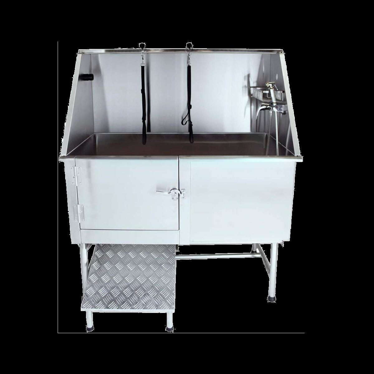 Grooming bath tub