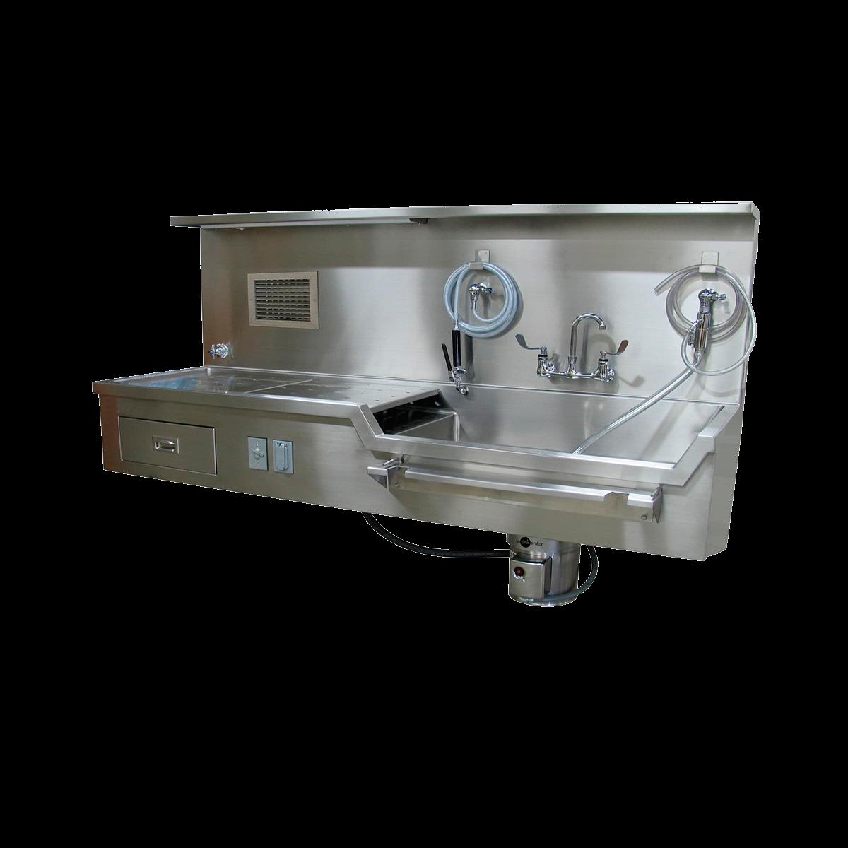 Mortuary washing units