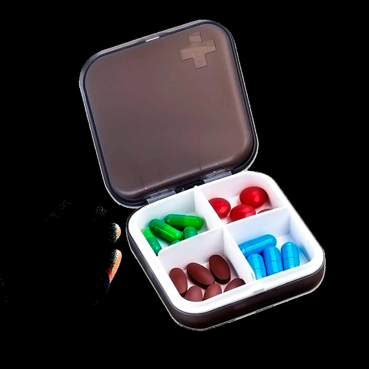 Portable pill organizer