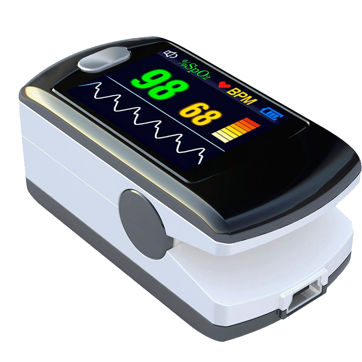 Pulse oximeter with alarm